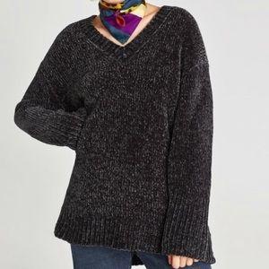 Oversized Chenille sweater from Zara